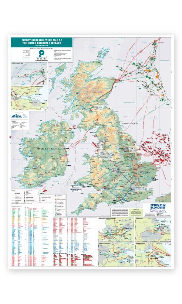 Map Of Uk And Ireland.Energy Infrastructure Map Of The United Kingdom And Ireland