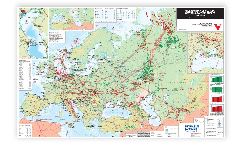Oil Gas Map Of Western Central Eastern Europe Petroleum