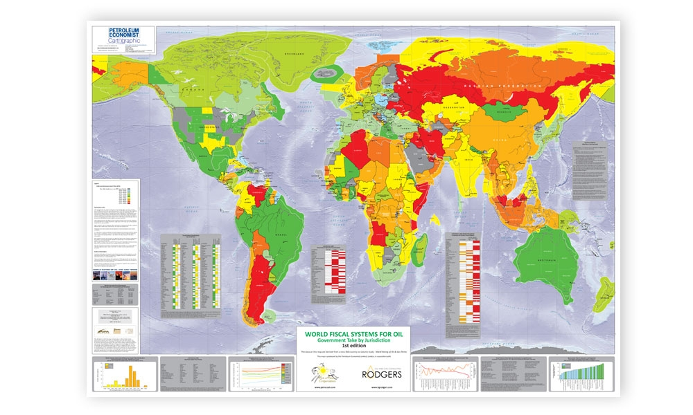 World Fiscal Systems For Oil Map Petroleum Economist Store