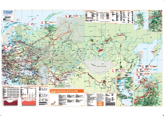 Russian Map Of Russia.Energy Map Of Russia Cee Russian Petroleum Economist Store