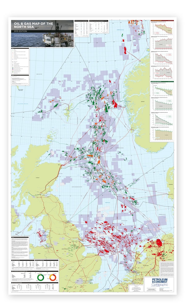 Map Of Uk Oil Fields.Oil Gas Map Of The North Sea Petroleum Economist Store